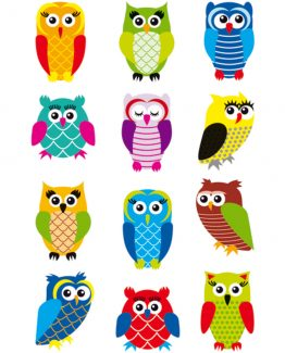 Herma stickers Magic owls foil glittery (1)