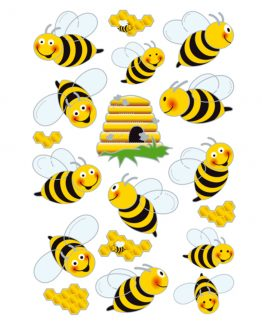 Herma stickers Magic bees 3D (1)