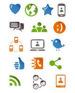 Herma stickers Magic social media icons