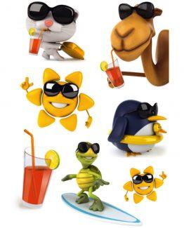 Herma stickers Magic summer animals (1)