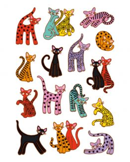 Herma stickers Decor abstract cats (3)