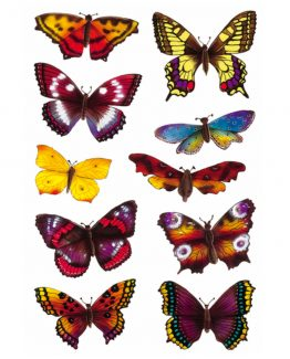 Herma stickers Decor butterflies glittery (2)