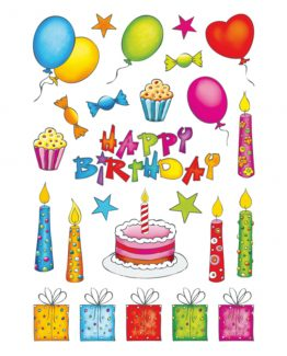 Herma stickers Decor birthday glittery (2)