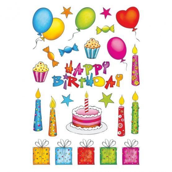 Herma stickers Decor birthday glittery (2)