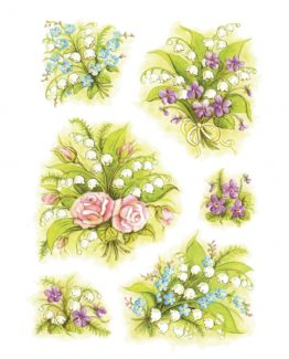 Herma stickers Decor bouquets lily of the valley (3)