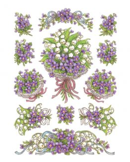 Herma stickers Decor bouquest violet (3)