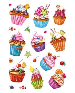 Herma stickers Decor cupcakes foil glittery (2)