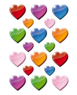 Herma stickers Decor coloured hearts (3)