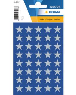 Herma stickers Decor stars ø13 silver (3)