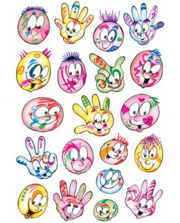 Herma stickers Decor coloured faces (3)