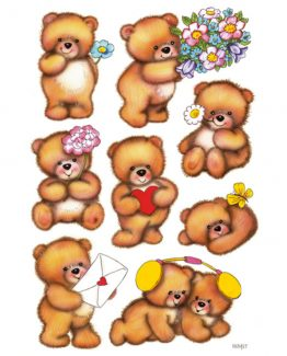 Herma stickers Decor bears with flowers (3)