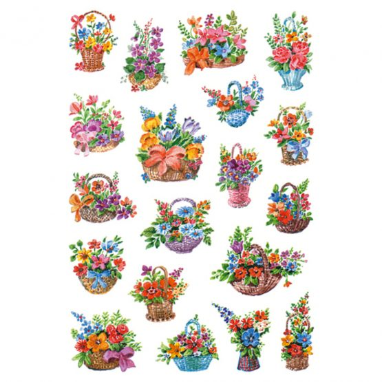 Herma stickers Decor flowers in basket (3)