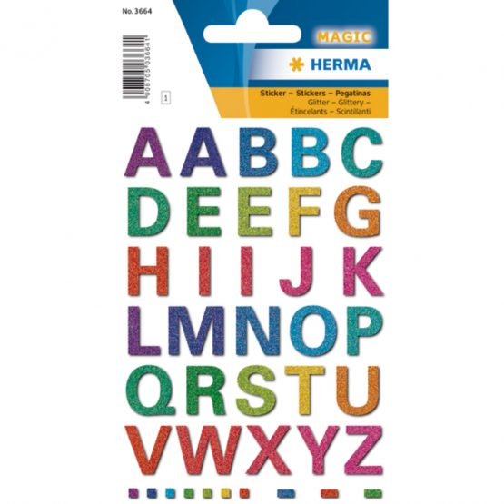 Herma stickers Magic letters glittery (1)