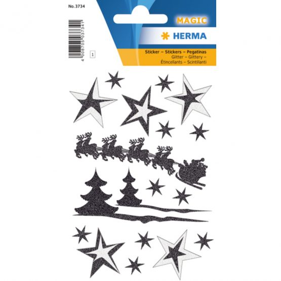 Herma stickers Magic sleigh ride glittery (1)