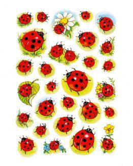 Herma stickers Decor ladybirds/flowers (3)