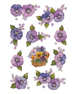 Herma stickers Decor pansy heads (3)