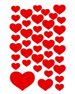 Herma stickers Decor small hearts red (3)