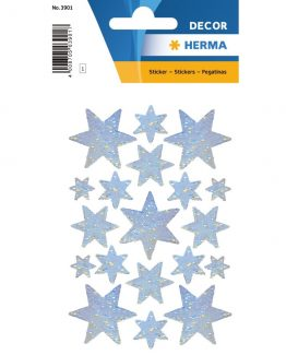 Herma stickers Decor stars silver holography (3)