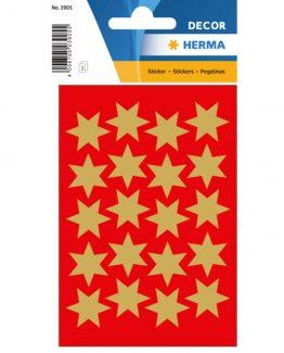 Herma stickers Decor stars ø21 gold (3)