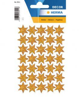 Herma stickers Decor stars gold glittery (3)
