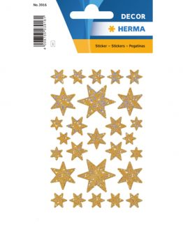 Herma stickers Decor stars gold holography (3)