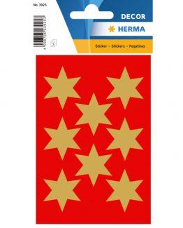 Herma stickers Decor stars ø33 gold (3)