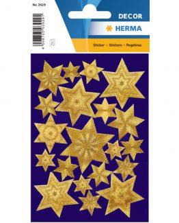 Herma stickers Decor stars gold engraved film (2)