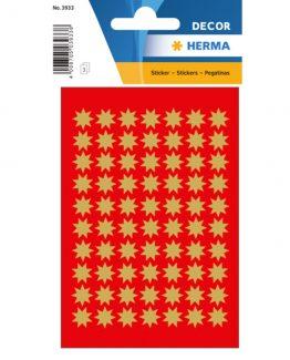 Herma stickers Decor stars ø10 gold (3)