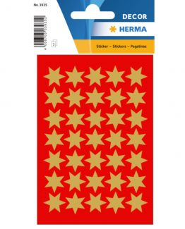 Herma stickers Decor stars ø16 gold (3)
