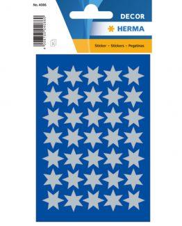 Herma stickers Decor stars ø16 silver (3)
