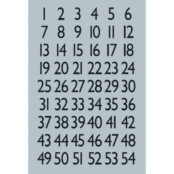 Herma label numbers 1-100 13x12 black/silver