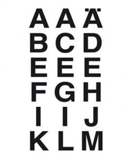 Herma label letters A-Z 20x20 black