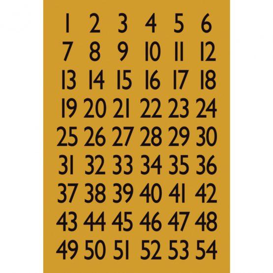 Herma label numbers 1-100 13x12 black/gold