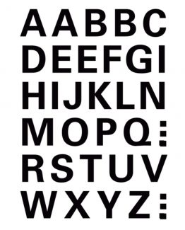 Herma label letters A-Z 15 high black