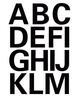 Herma label letters A-Z 25 high black