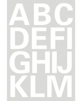 Herma label letters A-Z 25 high white