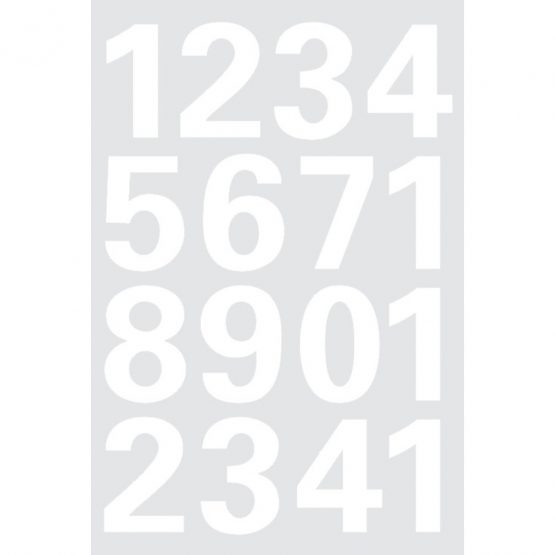 Herma label numbers 0-9 25 high white