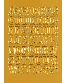 Herma label letters A-Z 12 high gold