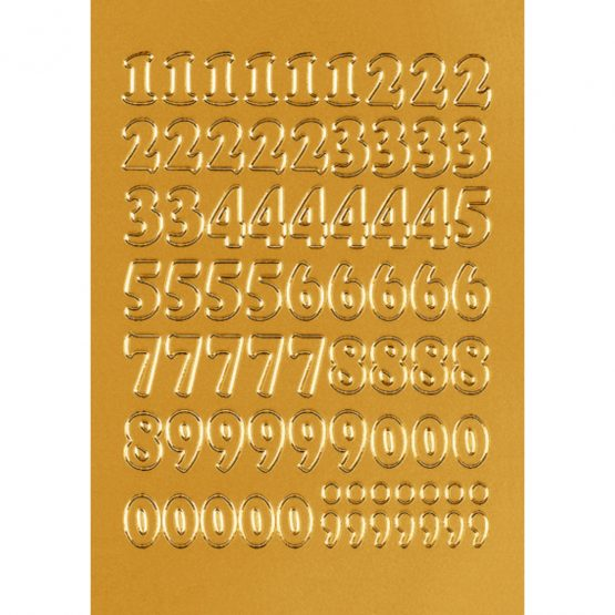 Herma label numbers 0-9 12 high gold