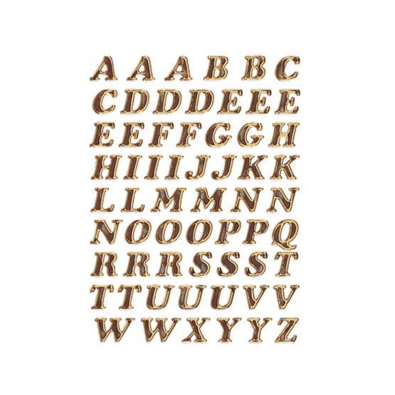 Herma label letters A-Z 8 high gold