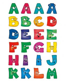 Herma label letters A-Z 20 high happy faces