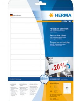 Herma label removable 96x16,9 (800)