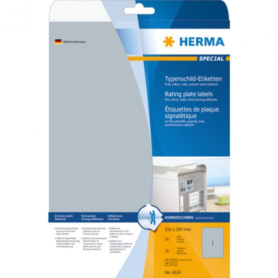 Herma label film extra strong 210x297 silver (25)