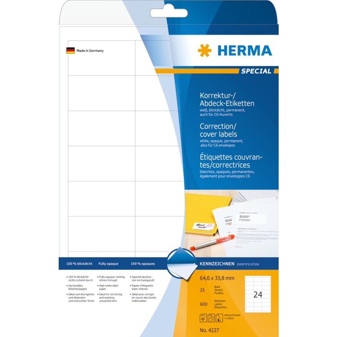 Herma label covering 64,6x33,8 (600)