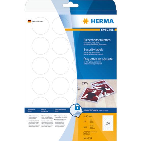Herma label film security seal ø40 (600)