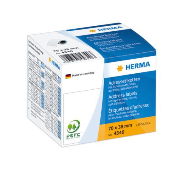 Herma label on roll address 70x38 (250)