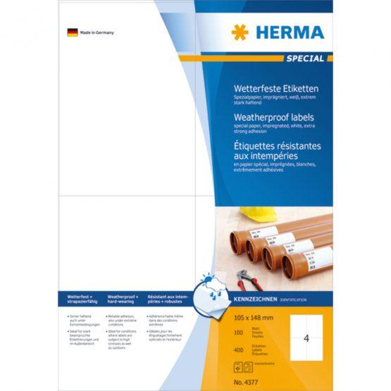 Herma label weatherproof 105x148 (400)