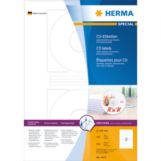 Herma label Special CD ø116 (200)
