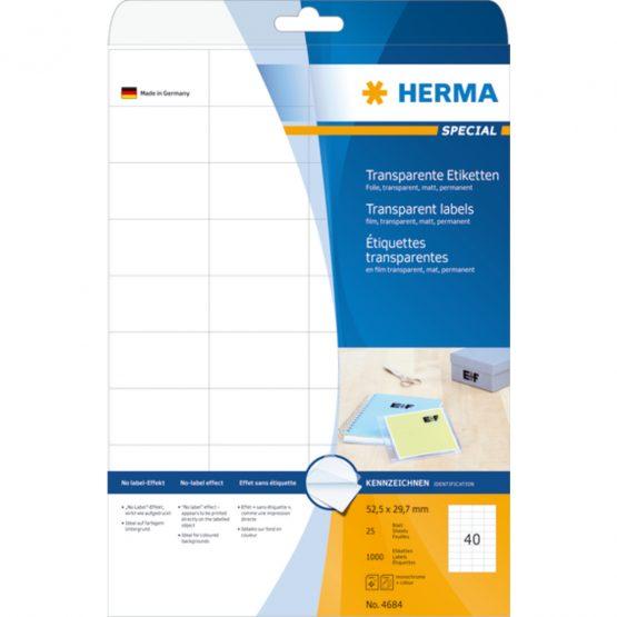 Herma label film 52,5x29,7 transp matt (1000)