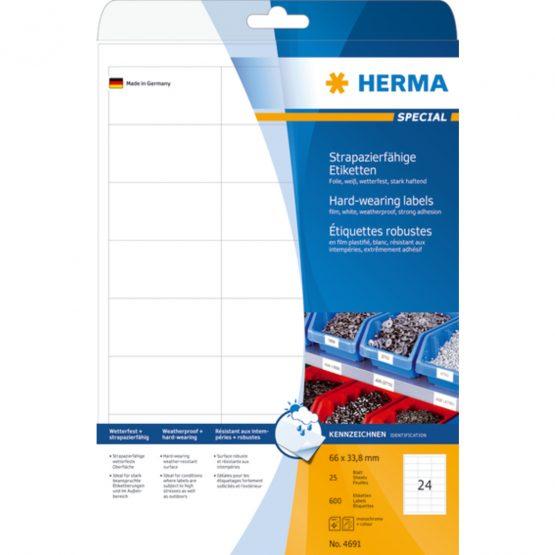 Herma label film extra strong 66x33,8 matt (600)
